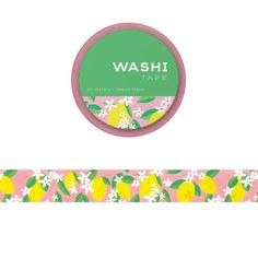We love the full-color Lemon Washi Tape.  The cheerful collection of lemons instantly brightens this patterned roll that has 393 inches for you to use to tape up your favorite motivational saying, decorate, and in crafting with a pop of color, mark dates in your planner, and more.  The Lemon Washi Tape gives a delicate Desk Set, Washi Tape, Dates, Your Favorite, Color Pop, Motivational, Lemon, Delicate, Crafting