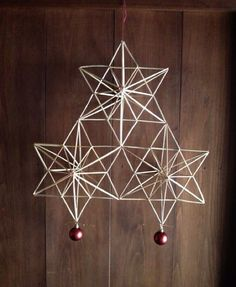 HIMMERI Straw Decorations, Christmas Decorations To Make, Christmas Makes, Christmas Crafts, Beautiful Christmas, Straw Crafts, Diy Furniture Easy, Geometric Decor, Craft Sale
