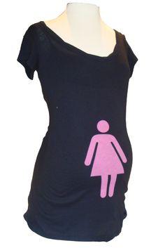 cute girl maternity shirt