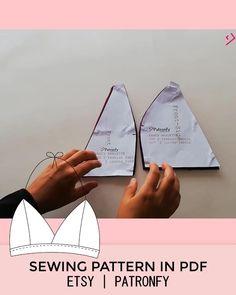 Bralette Pattern, Pdf Sewing Patterns, Digital Pattern, Diy Tutorial