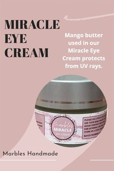 Mango butter used in our Miracle Eye Cream protects from UV rays. Please visit our website for more information. Miracle Eye Cream, Tamanu Oil, Eyes Problems, Best Eye Cream, Green Tea Powder, Green Tea Extract, Even Skin Tone, Dark Circles, Mango