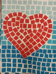 Inspirace z fb Valentine Crafts, Mosaic, Arts And Crafts, Greeting Cards, Saint Valentine, Valentines Day, Ideas, Needlepoint, Craft