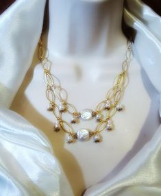 Bridal necklace Bridal Necklace, Pearl Necklace, Affordable Jewelry, Pearls, Handmade, Design, Fashion, Bride Necklace, String Of Pearls