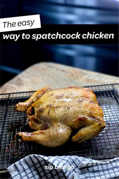 Spatchcock chicken dinner recipes for grilling or BBQ start here. Great to sous vide spatchcocked chicken then grill it, too. | sipbitego.com #sipbitego #chicken #dinner #spatchcockedchicken #howtobutterflyachicken #butterfliedchicken #sousvide #spatchcock #sousvidechicken #foodprep #bbq #grill Ways To Cook Chicken, Bbq Chicken, Roasted Chicken, Chicken Recipes, Butterflied Chicken, Spatchcock Chicken, Sous Vide Whole Chicken Recipe, Grilled Roast, Sous Vide Cooking