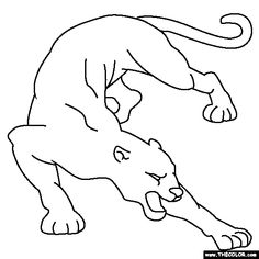 cougar coloring page - Realistic Chipmunk Coloring Pages