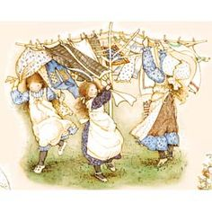 ♥ Holly Hobbie... Laundry ~ I still love 2 hang the sheets out on the clothesline!