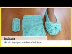 Knit Easiest House Slippers from Square Free Knitting Pattern