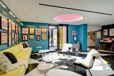Fenway's newly renovated hotel is the city's hip place to stay: A Colorful Welcome in the Verb lobby