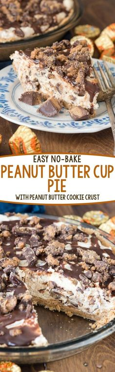 Nutritious Snack Tips For Equally Young Ones And Adults Easy No Bake Peanut Butter Cup Pie - This Amazing Pie Recipe Has A Nutter Butter Pie Crust Nutter Butter, Peanut Butter Cup Pie Recipe, Peanut Butter Desserts, Peanut Butter Cream Pie, Honey Butter, Lemon Butter, Mini Desserts, Easy Desserts, Delicious Desserts