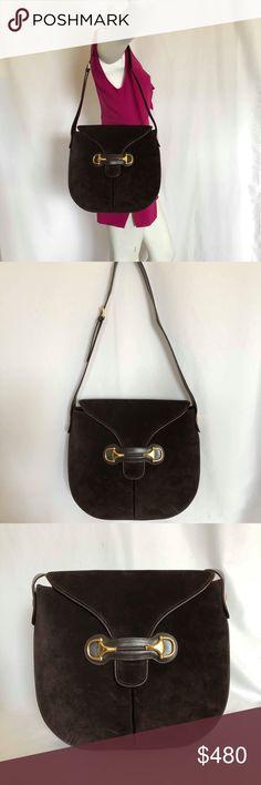 190da5d9634 Gucci Vintage Suede Horsebit Shoulder Bag Gucci Vintage Suede Horsebit  Shoulder Bag 100% authentic GUCCI