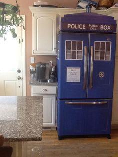 #TARDIS #refrigerator FTW! #kitchen #DoctorWho