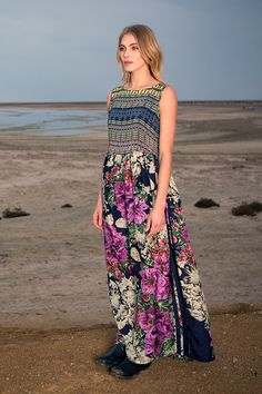 Johnny Was Collection Fall 2015 Lookbook featuring the MODE MIX MAXI DRESS