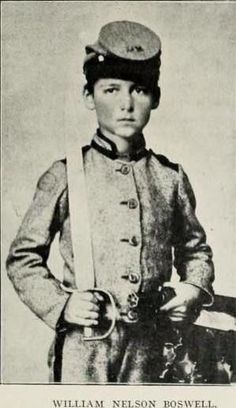 Entered Confederate service at eleven years of age as a drummer in the 56th Virginia. His soldierly bearing on drill attracted attention of President Davis that with his own hands presented the little drummer with a sword.