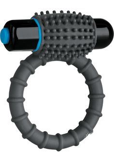 Buy Optimale Silicone Vibrating C-ring Waterproof Slate online cheap. SALE! $19.49