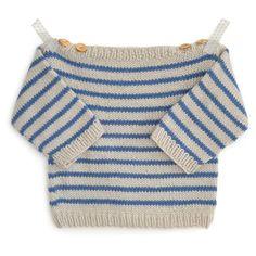 Marinière bébé Augustin 3-24m - modèle à tricoter - Tutoriels de tricot chez Makerist
