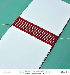 Minialbum mit Gummibindung für Inspirationenhefte | #MitmachMontag Tutorial von…