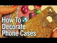 Make your own DIY Glitter Phone Case
