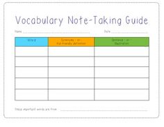This template is a great way to record rich, robust vocabulary words that your students are learning.  Use a  three hole punch and store them in a folder or three-ring binder to serve as a reference for later retrieval or study.  Template includes space for students to record the vocabulary word, synonyms or kid friendly definition, and an area for sentences or illustrations to aide in vocabulary acquisitionThanks for checking out my products....have a great day :)
