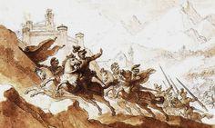 Batalla de Tagliacozzo fuga de Corradino
