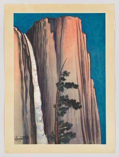 Whitney Museum of American Art: Chiura Obata: Evening Glow of Yosemite Fall
