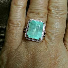 I just added this to my closet on Poshmark: 9.14CT COLOMBIAN EMERALD DIAMOND 10K ROSEGOLD RING. Price: $1850 Size: OS