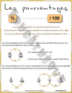 1000 images about manouschool fractions pourcentages on for Calcul de pourcentage de pente