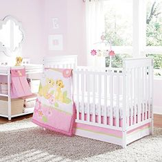 #shopping Set out for a jungle adventure at bedtime. This 5-piece crib bedding set featuring Nala from THE LION KING comes in soothing colors of #light pink, whi...