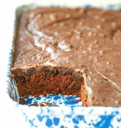 "Former First Lady Bird Johnson is credited with introducing our great nation to this ""Mexican Chocolate Cake"" back in the early 1960s. Recipe from Sweet on Texas, by Denise Gee"