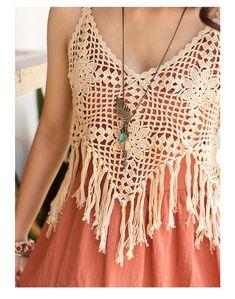 Motif Blouse Making Cardigan Au Crochet, Gilet Crochet, Crochet Cardigan, Knit Baby Dress, Crochet Bikini Top, Knit Crochet, Beau Crochet, Crochet Summer Tops, Bohemian Mode