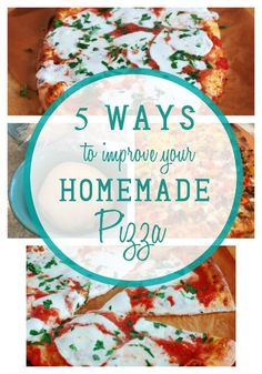 5 Ways to make great homemade pizza  Great tips include baking pizza at very high heat ( over 500 plus convection), making dough at least 24 hrs before baking, using great bread flour, and using the right tools.