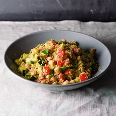 Ein simpler Salat mit orientalischem Einschlag, der lauwarm oder kalt gegessen werden kann. Ideal wenn's mal schnell gehen muss oder für die Mittagspause im Büro.