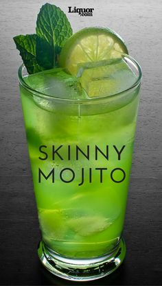 The rum classic, Mojito, is often a fan favorite for sipping year round. This version is even better with fewer calories than the original with the same great flavor. This #mojito is a must try!
