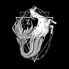 Shop graphic tees, artwork, iphone cases, and more designed by the worldwide Threadless community. Dark Fantasy Art, Dark Art, Astrology Signs, Zodiac Signs, Capricorn And Taurus, Sagittarius Tattoos, Nemean Lion, Capricorn Aesthetic, Zodiac Art