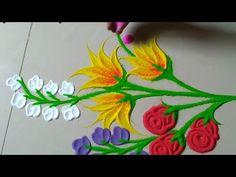 ठसठशीत आणि मन वेधून घेणारी आकर्षक सोपी रांगोळी डिझाईन by Jyoti Raut Rangoli Rangoli Designs Simple Diwali, Indian Rangoli Designs, Rangoli Designs Latest, Rangoli Designs Flower, Free Hand Rangoli Design, Small Rangoli Design, Colorful Rangoli Designs, Flower Rangoli, Beautiful Rangoli Designs