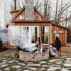 Future House/Appartment Orange Things orange u glad Future House, Boho Home, Cabins And Cottages, Small Cottages, Log Cabins, Cottage Design, Cozy Cottage, Cozy Cabin, Cabin Homes