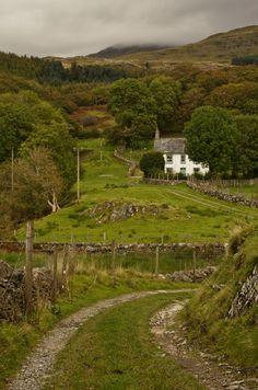 Path to Ty'n y Ddol, Gwynedd, Wales,  UK - by Brian Burnett