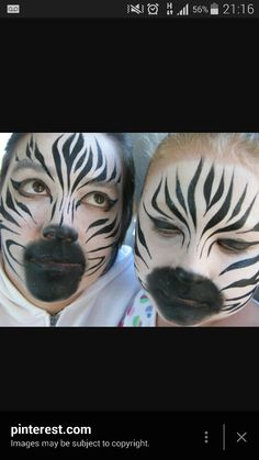 this is a much more realistic design than . Face Painting Designs, Paint Designs, Body Painting, Animal Face Paintings, Animal Faces, Kids Makeup, Makeup Art, Looks Halloween, Halloween Face Makeup