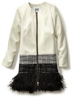 Milly feather-trim jacket $795