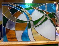 vidriera lineas curvas