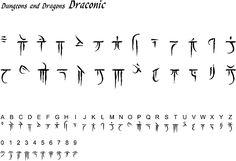 D&D Draconic script