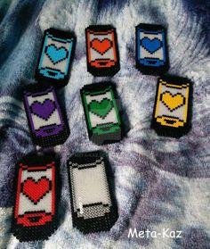 Undertale Hama beads by Meta-Kaz Perler Bead Templates, Diy Perler Beads, Perler Bead Art, Fuse Bead Patterns, Perler Patterns, Beading Patterns, Undertale Pixel Art, Hamma Beads Ideas, Rubber Band Crafts