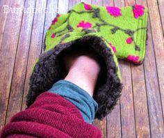 Rollator Muff nähen - tolle Geschenk Idee für Ältere Leute, so bleiben de Hände schön kuschelig warm :)