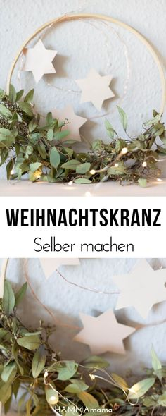 DIY Weihnachtskranz ° Easy and Scandinavian – # Scandinavian … - Dekoration Jungle Party Decorations, Christmas Decorations, Scandi Christmas, Christmas Holidays, Homemade Christmas Wreaths, Ostern Party, Diy Girlande, Diy Backdrop, Diy Décoration