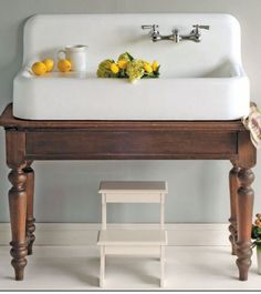 Small farmhouse sink – cast iron – new from Strom Plumbing – Farmhouse Sink Vanity Small Farmhouse Sink, Farmhouse Sink Vanity, Modern Farmhouse Bathroom, Rustic Farmhouse, Cast Iron Farmhouse Sink, Vintage Farmhouse Sink, Farmhouse Style, Farmhouse Ideas, Cast Iron Sink