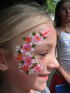 Spring flower face painting