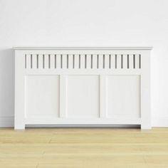 Wilton Radiator Cabinet - Smooth White - (W)150 x (H)90 x (D)20cm