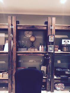 My office shelves