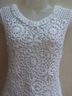 Ideas Crochet Top Girl Dress Tutorials For 2020 - Diy Crafts Débardeurs Au Crochet, Crochet Hood, Crochet Shirt, Filet Crochet, Irish Crochet, Crochet Stitches, Crochet Patterns, Double Crochet, Crochet Ideas