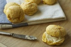 Sweet potato biscuits and maple butter. I'd like to try subbing the sweet potato w/ pumpkin, too.