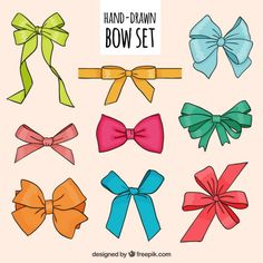 Bow Vector, Vector Hand, How To Draw Ribbon, Bow Drawing, Banner Clip Art, Winter Illustration, Free Hand Drawing, Silhouette Images, Gift Bows